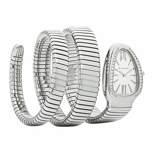 Bvlgari Bvlgari Serpenti Argento Opaline Quadrante Acciaio inox Acciaio Diamante Ladies Orologio SP35C6SDS-2T