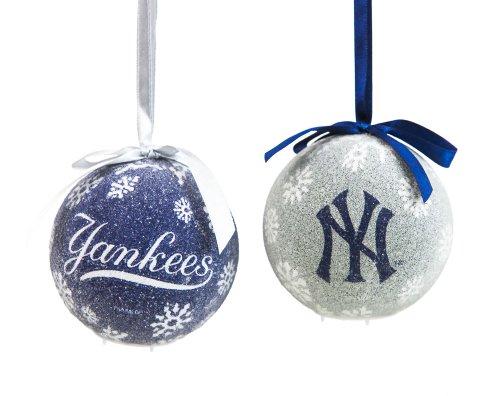 Mlb 6 Piece Led Boxed Ornament Set Mlb Team: New York Yankees
