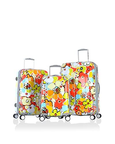 Olympia USA Blossom 3-Piece Hardside Luggage Set, Yellow