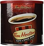 Tim Hortons Ground Coffee Can, 32.8 Ounce (Pack of 2)