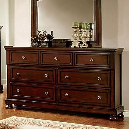 Northville Traditional Elegant Style Cherry Finish Bedroom Dresser