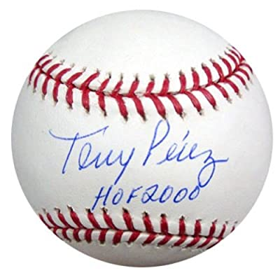 "Tony Perez Autographed Official Mlb Baseball Cincinnati Reds ""hof 2000"" Psa/dna Stock #18241"