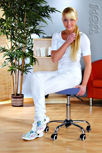 Massage Beauty Therapy Gas Stool Height Adjustable - BLUE