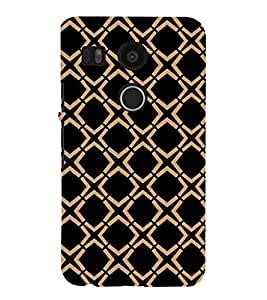 dual colour check pattern case 3D Hard Polycarbonate Designer Back Case Cover for LG Google Nexus 5X :: LG Google Nexus 5X (2nd Gen) :: Google Nexus 5X :: Nexus 5X (2015)