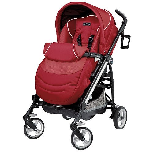 Peg Perego Switch Four Stroller Geranium front-913803