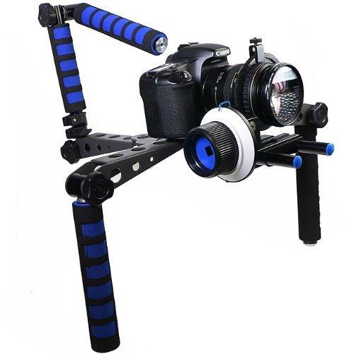eimo Épaulière professionnelle pour appareil photo réflex numérique et caméscope avec Follow Focus