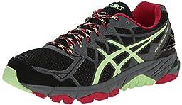 ASICS Women\'s Gel-Fujitrabuco 4 Neutral Running Shoe, Black/Pistachio/Wild Raspberry, 10.5 M US