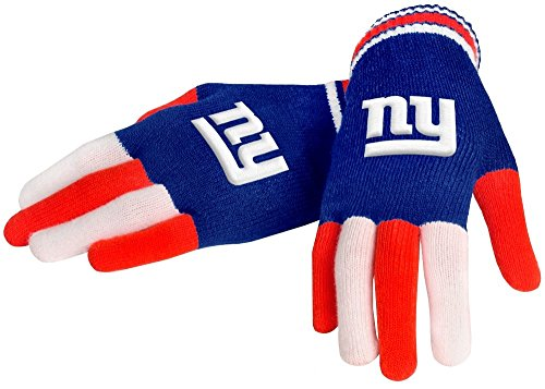 NFL New York Giants Knit Gloves, Blue, One Size (New York Giant Gloves compare prices)