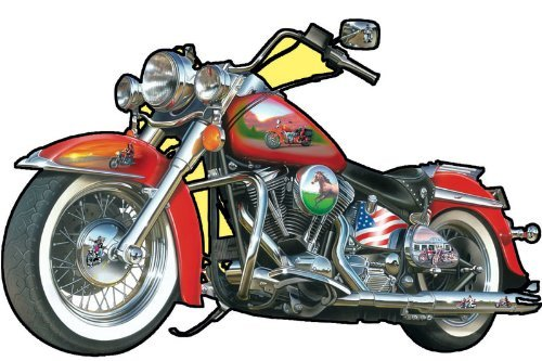 Motorcycle Shaped 1000 Piece Jigsaw Puzzle