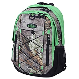 REALTREE Laptop Backpack, 17-Inch, Realtree Xtra/Lime