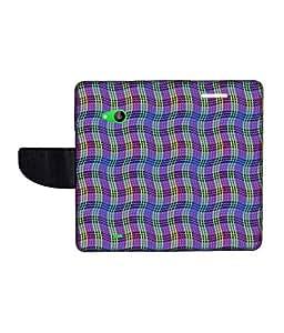 KolorEdge Printed Flip Cover For Microsoft Lumia 535 Multicolor -(50KeMLogo12276Lumia535)
