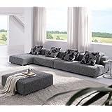 Outstanding Tosh Furniture Modern Zebrano Fabric Sectional Sofa Evergreenethics Interior Chair Design Evergreenethicsorg