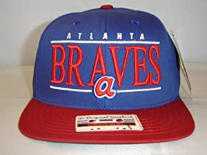 MLB Atlanta Braves Team Script Royal Blue 2Tone Retro Snapback Cap by American Needle