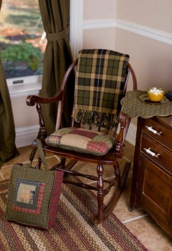 Tea Cabin Chair Pad Patchwork 15X15""