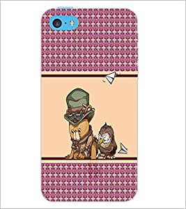 PrintDhaba Cartoon D-4318 Back Case Cover for APPLE IPHONE 5C (Multi-Coloured)