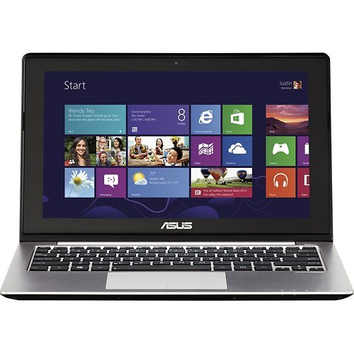 Asus - 11.6 Windows 8 Touch-Screen Laptop - Q200E-BSI3T08 - 3rd Gen Intel CoreTM i3-3217U processor - 4GB Memory - 500GB Hard Drive - Steel Gray Hairline