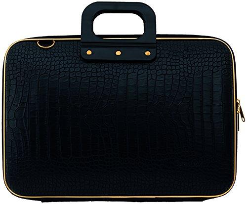 bombata-gold-cocco-briefcase-13-inch-black