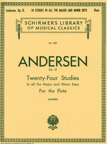 アンデルセン : フルートのための24の練習曲 Op.21/シャーマー社