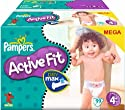 Pampers Windeln Active Fit Gr.4+ Maxi Plus 9-20 kg Megapack, 99 Stück