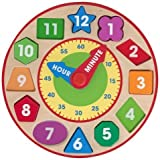 Game / Play Melissa & Doug Shape Sorting Clock (2013). Learning, Educational, Wooden, Time, Colorful Toy / Child...