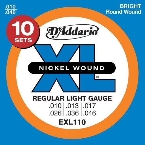 D'Addario EXL110-10P Nickel Wound Electric Guitar