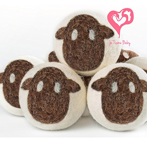 Je T'aime Baby Artisan Wool Dryer Balls - 6 Pack XL - Lamb - 1