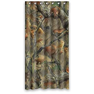 36 X 72 Camouflage Tree Camo Tree Shower Curtain With 7 Holes Home Kitchen