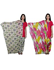 IndiWeaves Women's Cotton Patiala Salwar With Dupatta Combo (Pack Of 2 Salwar With Dupatta) - B01HRKSX86