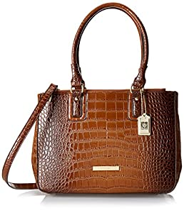 Anne Klein Hear Me Roar 60339122 Top Handle Satchel,Sienna Brown,One Size