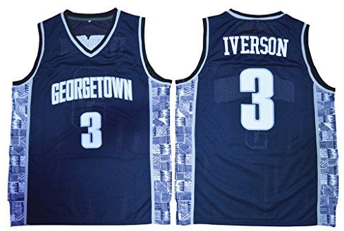 competitive price 32771 b985a WEENKS Men's Allen Iverson 3 Georgetown Hoyas College - Import It All