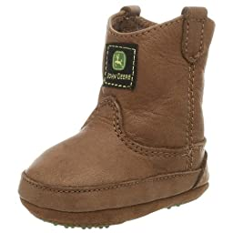 John Deere 213 Western Boot (Infant/Toddler),Brown,3 M US Infant