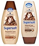 NEW SCHWARZKOPF SUPERSOFT REPAIR & CARE LADIES COCONUT SHAMPOO & CONDITIONER