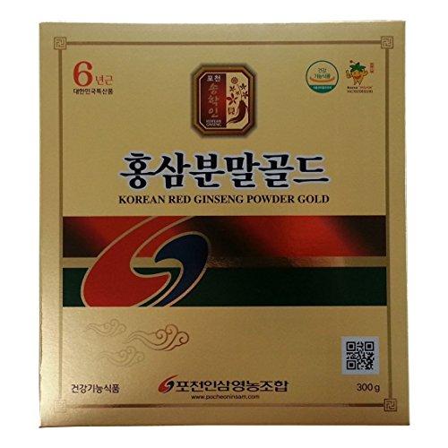 Pocheon 300g Korean Red Ginseng Roots Powder Gold 6 Years, No Additives 100% Pure, High Ginsenoside Panax (Korean Red Ginseng Extract Powder compare prices)