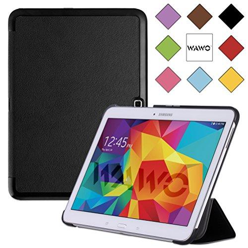 Wawo Samsung Galaxy Tab 4 10.1 Inch Tablet Smart Cover Creative Fold Case - Black