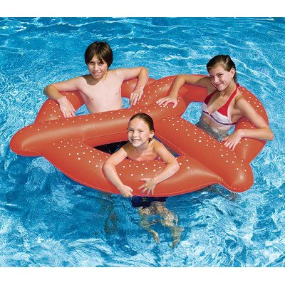Great Features Of New Swimline 90640 Swimming Pool 3 Kids Giant Pretzel Inflatable Float Toy
