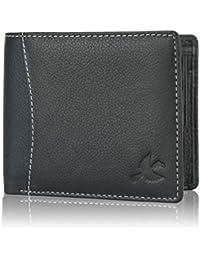 Hornbull Men'S Black Themes Leather Wallet