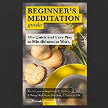 Beginner's Meditation Guide: The Quick and Easy Way to Mindfulness at Work: Insight Meditation (       UNABRIDGED) by Alexander Campos Narrated by David Winograd