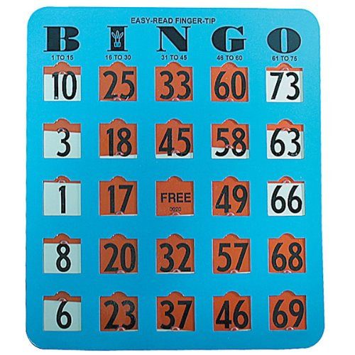 Read About Easy Read Finger - Tip Bingo Card -Blue