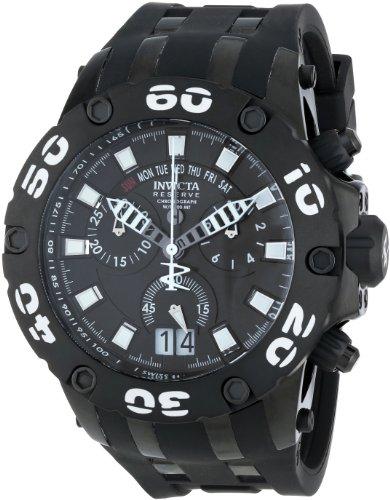 Invicta Men's 12347 Subaqua/Reserve Analog Display Swiss Quartz Black Watch