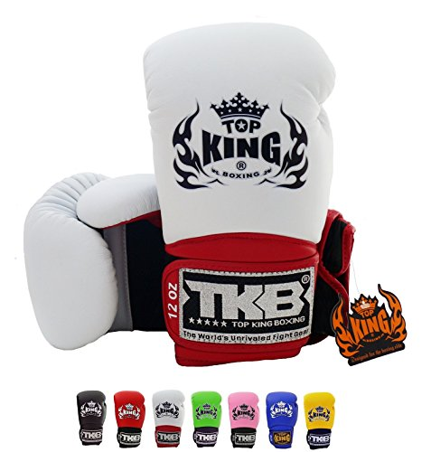 Top-King-Muay-Thai-Boxing-Gloves-Super-Air-TKBGSA-Size-8-10-12-14-16-oz-Color-Black-White-Red-Green-Blue-Pink-Yellow-Training-Sparring-Boxing-gloves-for-Muay-Thai-MMA-K1