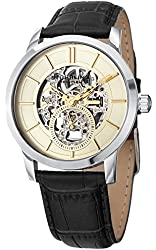 Stuhrling Original Men's 'Legacy' Mechanical Hand Wind Stainless Steel and Black Leather Dress Watch (Model: 924.03)