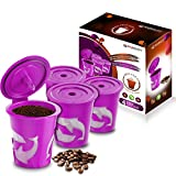 FROZ-CUP 2.0 - 4 Refillable/Reusable K Cups for Keurig 2.0 - K200, K300, K400, K500 Series and all 1.0 Brewers (4-Pack)