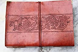 Vintage Leather Journal for Writers Artist Professionals Leather Notebook Blank Book