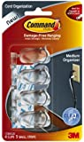 Command Medium Cord Clips, Clear, 4-Clip