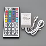 LEDwholesalers IR Remote Controller 44 Keys for RGB LED Light Strip