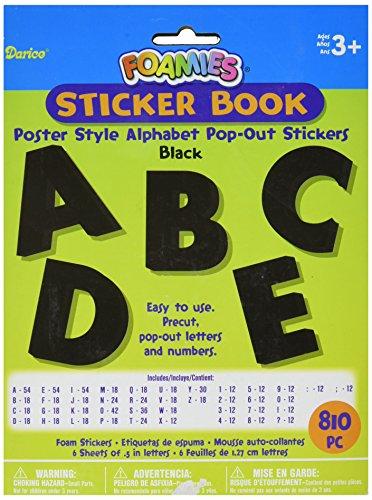 Foam Pop-Out Sticker Book 810/Pkg-Poster Alphabet-Black