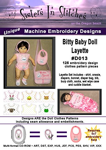 Bitty Baby Doll Layette - In the Hoop - Machine Embroidery Designs (Bitty Baby Sewing Patterns compare prices)