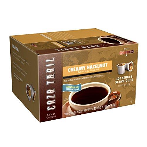 Caza Trail Coffee, Creamy Hazelnut, 100 Single Serve Cups (Hazelnut K Cups compare prices)