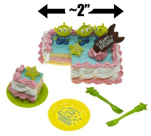 Squeeze Toy Alien & The Birthday Cake | Toy Story Birthday Party Mini-Playset (Japanese Import) [#7] front-218617