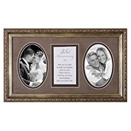 25th Anniversary Love Hearts Forever 18x11 Wood Wall Art Frame - Holds Two 4x6 Photos by James Lawrence